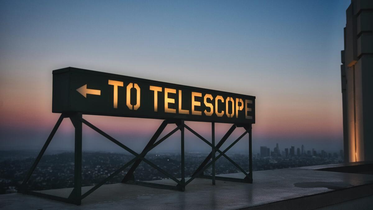 Teleskop och skyscanner